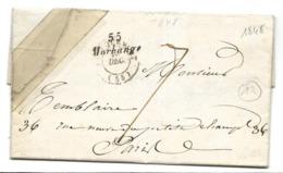 MORHANGE Meurthe Et Moselle Cursive 55 Morhange 1848  .....G - Marcofilia (sobres)