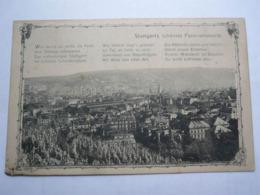 Vues Vieille Europe Allemagne Panorama 1908 Stuttgart - Stuttgart