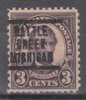 USA Precancel Vorausentwertung Preo, Locals Michigan, Battle Creek 635-207 - United States