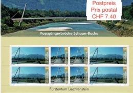 Liechtenstein 2014: Fussgängerbrücke Schaan Buchs Zu 1654-55 Mi 1671-72 Bogen ** MNH  (CHF 7.40 Gültig Valable Valid) - Brücken