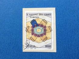 1997 ITALIA FRANCOBOLLO USATO STAMP USED SALONE DEL LIBRO TORINO - 6. 1946-.. Repubblica
