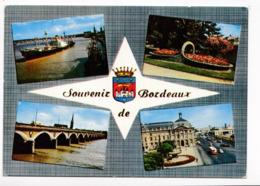 33 Bordeaux Souvenir De Bordeaux  Les Quais Le Panier Fleuri Le Pont De Pierre Place De La Bourse N°73 BE - Bordeaux