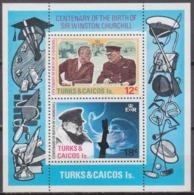1974Turks And Caicos Islands 339-40/B4Winston Churchill - Sir Winston Churchill