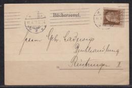 """Bayern Vordruckkarte """" Bücherzettel """" G.Hirth's Verlag München, Bedarf 1913 Nach Rüstringen - Bayern"""