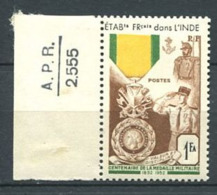253 INDE 1952 - Yvert 258 - Medaille Militaire - Neuf ** (MNH) Sans Trace De Charniere - Indien (1892-1954)