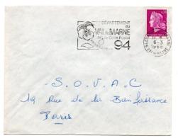 VAL De MARNE - Dépt N° 94  CHAMPIGNY 1968 = FLAMME Codée = SECAP  ' N° De CODE POSTAL / PENSEZ-Y ' - Zipcode