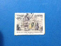1997 ITALIA FRANCOBOLLO USATO STAMP USED EUROPA STORIA E LEGGENDE DA 800 - 6. 1946-.. Repubblica