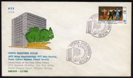 Turkey Ankara 1982 / Inauguration Of The Post Office Palace, PTT - Post
