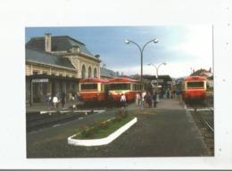 SAINT DIE (88) 235 LIGNE DE LUNEVILLE A SELESTAT .3 AUTORAILS CARAVELLE STATIONNENT EN GARE 1981 - Saint Die