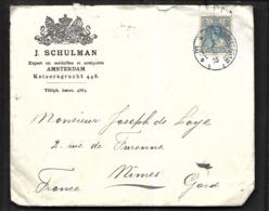 Pays - Bas   Lettre Commerciale  De 1912  De Amsterdam Pour  Nîmes - Briefe U. Dokumente