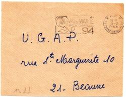 VAL De MARNE - Dépt N° 94  CHAMPIGNY 1968 = FLAMME PP Codée = SECAP  ' N° De CODE POSTAL / PENSEZ-Y ' - Zipcode