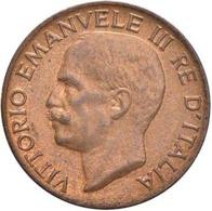 Vitt. Em III° Re D'italia 1900-1943 5 Centesimi 1935 Spiga  Mont. 384 CU Rame Rosso  FDC D.589 - 1861-1946 : Reino