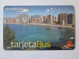 Benidorm-Spain,bus Plastic Card - Sonstige