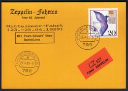 Germany 1989 / Zeppelin Fahrten -  Mittelmeer Fahrt 1929 - LZ 127 Graf Zeppelin -  Friedrichshafen 23.-4.89 - Zeppelins