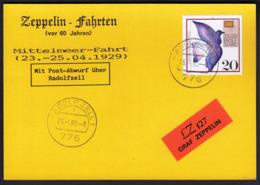 Germany 1989 / Zeppelin Fahrten -  Mittelmeer Fahrt 1929 - LZ 127 Graf Zeppelin -  Radolfzell 25.-4.89 - Zeppelins