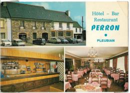 PLEUBIAN - Hôtel - Bar - Restaurant PERRON - Vues - Voiture : Citroen DS - Peugeot 403 - 404 - Renautl 4L - Pleubian