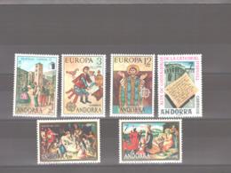 Année 1975 ** MNH N° 88 à 93 - Spanish Andorra