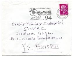 VAL De MARNE - Dépt N° 94  CHARENTON Le PONT Ppal 1968 = FLAMME Codée = SECAP  ' N° De CODE POSTAL / PENSEZ-Y ' - Postleitzahl
