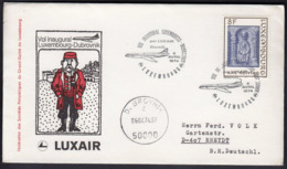 Luxembourg 1974 / First Flight Luxembourg - Dubrovnik, Caravelle LUXAIR - Vliegtuigen