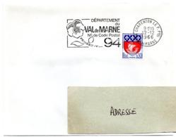 VAL De MARNE - Dépt N° 94 CHARENTON Le PONT Ppal 1966 = FLAMME Codée = SECAP  ' N° De CODE POSTAL / PENSEZ-Y ' - Zipcode