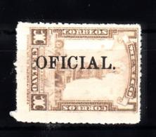 Mexico 1925 Mi Nr 145  Zuschlagsmarken Met Opdruk OFICIAL, , Postfris Met Plakker - Mexique