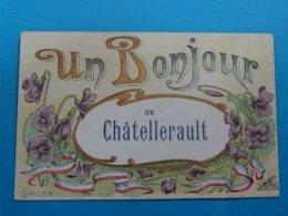 86 ) Chatellerault - Un Bonjour De Chatellerault (  GRACIOSA )- Année 1908 - EDIT - JTE - Chatellerault