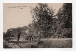 - CPA SAINT-AUBIN-D'AUBIGNÉ (35) - La Vallée 1919 (avec Personnages) - Photo E. Baudy - - Frankreich