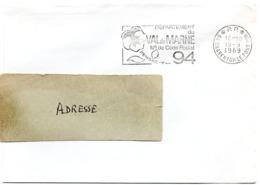VAL De MARNE - Dépt N° 94  CHARENTON Le PONT Ppal 1969 = FLAMME PP Codée = SECAP  ' N° De CODE POSTAL / PENSEZ-Y ' - Zipcode