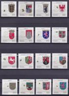 """BRD, 1992-1994, 1586-1591, 1660-1664, 1712-1716 ** Alle16 Werte Der Serie """"Wappen Der Länder"""" - Ungebraucht"""