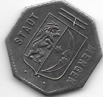 *notgeld  Mengen 10 Pfennig 1918 Fe  329.2b - [ 2] 1871-1918 : Imperio Alemán