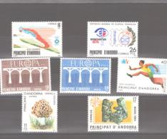 Année 1984 ** MNH N° 165 à 171 - Spanish Andorra