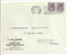 Em.Veth HC 179 Violet Pair.Flamme Jeux Olympiques 1928 - Briefe U. Dokumente