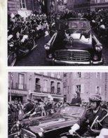 Charles De Gaulle De Bout Dans Sa Citroen Présidentielle A Quimper  -  Deux  15x10cm  PHOTOs - Voitures De Tourisme