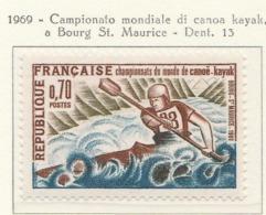 PIA  - FRA - 1969 : Campionato Mondiale Di Canoa Kayak A Bourg St. Maurice  - (Yv  1609) - Kanu