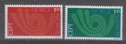 PAIRE NEUVE DE NORVEGE - EUROPA 1973 N° Y&T 616/617 - 1973