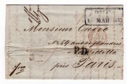 Riga 1853 Lettonie Julius Sturtz Coeln Verviers PRUSSE VALENCIENNES Latvija Латвия La Villette - Letland