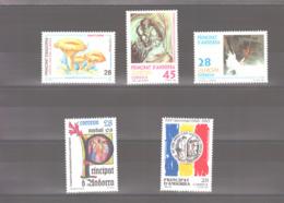Année 1993 ** MNH N° 221 à 225 - Spanisch Andorra