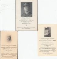 3 Images Pieuses De Déces D' Officiers Dont Le Général PETAIN. - Avvisi Di Necrologio