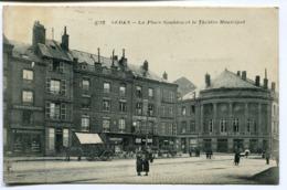 CPA - Carte Postale - France - Sedan - La Place Goulden Et Le Théâtre Municipal - 1937 (D10245) - Sedan