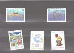 Année 1997 ** MNH N° 241 à 245 - Spanisch Andorra