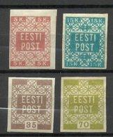 ESTLAND ESTONIA 1919 Michel 1 - 4 * - Estonia