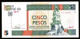 * Cuba 5 Pesos Convertibles 2013  ! UNC ! - Cuba