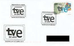 SPAIN. POSTMARK. 60th ANNIV. SPANISH TELEVISION. TVE. 2016 - España