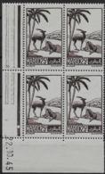 1945-47 Maroc N° 237 Nf** MNH. ' Bloc Coin Daté 22 . 10. 45 . Gazelles . - Marokko (1891-1956)