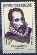France 1957: CERVANTES Miguel De Cervantes Saavedra (1547-1616) Mi 1169 Yv 1134 ** MNH (aus Serie Mi 1167-73 Yv 1132-38) - Writers