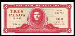 * Cuba 3 Pesos 1988  ! UNC ! - Cuba