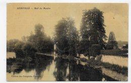 (RECTO / VERSO) JOINVILLE EN 1916 - BIEF DU MOULIN - CPA AVEC GLACAGE VOYAGEE - Joinville