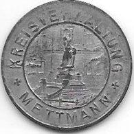 *notgeld   Mettmann 5 Pfennig 1917 Zn  333.1a - Autres