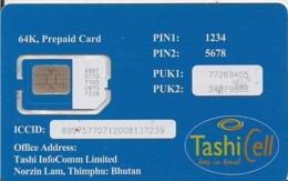 TARJETA GSM BUTHAN - Tarjetas Telefónicas