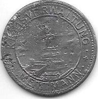 *notgeld   Mettmann 10 Pfennig 1917 Zn  333.2c - [ 2] 1871-1918 : Empire Allemand